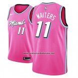 Camiseta Miami Heat Dion Waiters #11 Earned 2018-19 Rosa