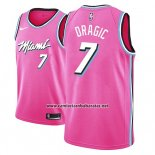 Camiseta Miami Heat Goran Dragic #7 Earned 2018-19 Rosa