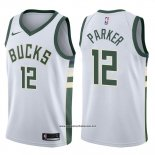 Camiseta Milwaukee Bucks Jabari Parker #12 Motorcycles Harlry 2017-18 Blanco