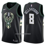 Camiseta Milwaukee Bucks Matthew Dellavedova #8 Statement 2017-18 Negro