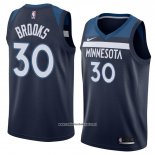Camiseta Minnesota Timberwolves Aaron Brooks #30 Icon 2018 Azul