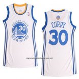 Camiseta Mujer Golden State Warriors Stephen Curry #30 Blanco