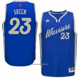Camiseta Navidad 2015 Golden State Warriors Draymond Green #23 Azul