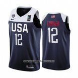 Camiseta USA Myles Turner #12 2019 FIBA Basketball World Cup Azul
