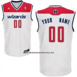 Camiseta Washington Wizards Adidas Personalizada Blanco
