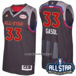 Camiseta All Star 2017 Memphis Grizzlies Marc Gasol #33 Negro