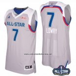 Camiseta All Star 2017 Toronto Raptors Kyle Lowry #7 Gris
