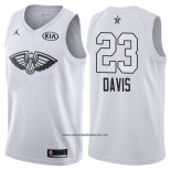 Camiseta All Star 2018 New Orleans Pelicans Anthony Davis #23 Blanco