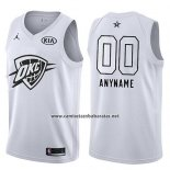 Camiseta All Star 2018 Oklahoma City Thunder Nike Personalizada Blanco