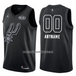 Camiseta All Star 2018 San Antonio Spurs Nike Personalizada Negro