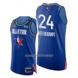 Camiseta All Star 2020 Bucks Giannis Antetokounmpo #24 Azul