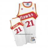 Camiseta Atlanta Hawks Dominique Wilkins #21 Retro Blanco