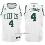 Camiseta Boston Celtics Isaiah Thomas #4 Blanco