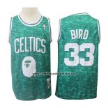 Camiseta Boston Celtics Larry Bird #33 Mitchell & Ness Verde