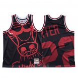 Camiseta Chicago Bulls Otto Porter Jr. #22 Mitchell & Ness Big Face Negro
