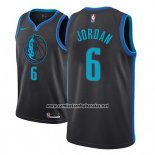 Camiseta Dallas Mavericks Deandre Jordan #6 Ciudad 2018-19 Azul