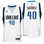 Camiseta Dallas Mavericks Harrison Barnes #40 Blanco