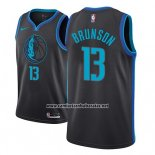 Camiseta Dallas Mavericks Jalen Brunson #13 Ciudad 2018-19 Azul