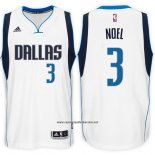 Camiseta Dallas Mavericks Nerlens Noel #3 Blanco