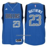 Camiseta Dallas Mavericks Wesley Matthews #23 Azul