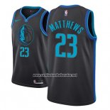 Camiseta Dallas Mavericks Wesley Matthews #23 Ciudad 2018-19 Azul