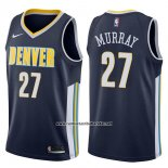 Camiseta Denver Nuggets Jamal Murray #27 Icon 2017-18 Azul