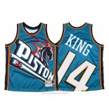 Camiseta Detroit Pistons Louis King #14 Mitchell & Ness Big Face Azul