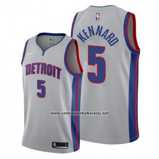 Camiseta Detroit Pistons Luke Kennard #5 Statement Gris
