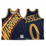 Camiseta Golden State Warriors D'angelo Russell #0 Mitchell & Ness Big Face Azul