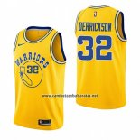 Camiseta Golden State Warriors Marcus Derrickson #32 Hardwood Classic 2018-19 Amarillo