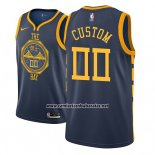 Camiseta Golden State Warriors Personalizad Ciudad 2018-19 Azul