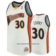 Camiseta Golden State Warriors Stephen Curry 2009-10 Hardwood Classics Blanco