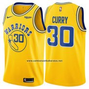 Camiseta Golden State Warriors Stephen Curry #30 Hardwood Classic 2018 Amarillo