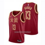 Camiseta Houston Rockets James Harden #13 Ciudad 2018-19 Rojo