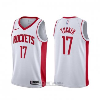 Camiseta Houston Rockets P.j. Tucker #17 Association 2018 Blanco