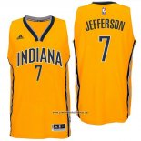 Camiseta Indiana Pacers Al Jefferson #7 Amarillo