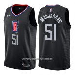 Camiseta Los Angeles Clippers Boban Marjanovic #51 Statement 2019 Negro