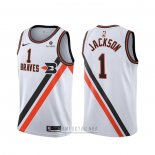 Camiseta Los Angeles Clippers Reggie Jackson #1 Classic Edition Blanco
