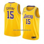 Camiseta Los Angeles Lakers Demarcus Cousins #15 Icon 2019-20 Amarillo