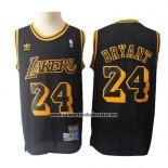 Camiseta Los Angeles Lakers Kobe Bryant #24 Retro Hardwood Classics Negro