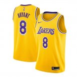 Camiseta Los Angeles Lakers Kobe Bryant Nike Icon #8 2018-19 Amarillo
