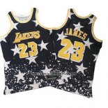 Camiseta Los Angeles Lakers Lebron James #23 Hardwood Retro 1997-98 Negro