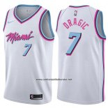 Camiseta Miami Heat Goran Dragic #7 Ciudad 2017-18 Blanco