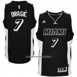 Camiseta Miami Heat Goran Dragic #7 Negro Blanco