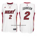 Camiseta Miami Heat Joe Johnson #2 Blanco