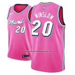 Camiseta Miami Heat Justise Winslow #20 Earned 2018-19 Rosa