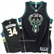 Camiseta Milwaukee Bucks Giannis Antetokounmpo #34 Negro