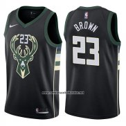 Camiseta Milwaukee Bucks John Henson #23 Statement 2017-18 Negro