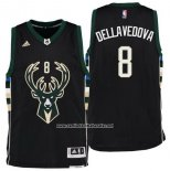 Camiseta Milwaukee Bucks Matthew Dellavedova #8 Negro