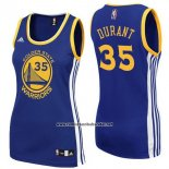 Camiseta Mujer Golden State Warriors Kevin Durant #35 Azul